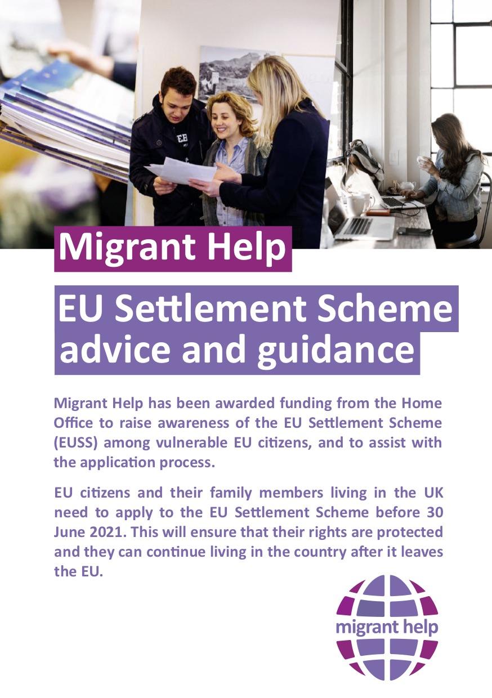 Free advice on UK settlement scheme